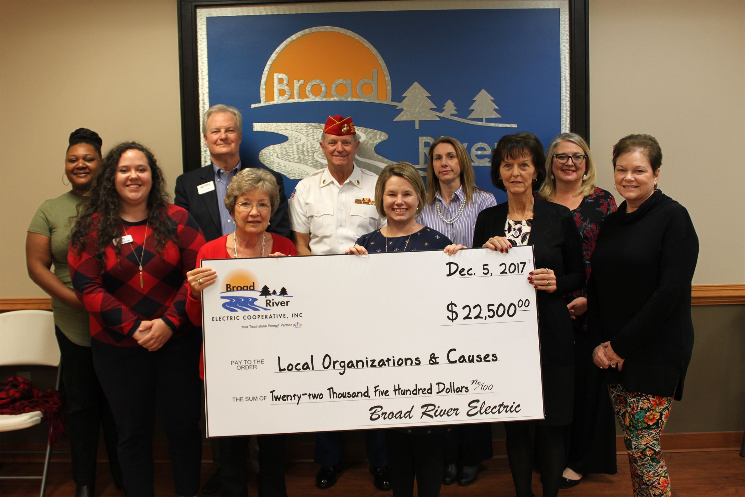 Broad River Electric Donates to 14 Local Charities